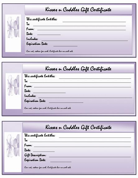 Voucher Template Free Blank Gift Certificate Template  Gallery
