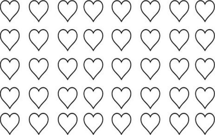 Free Heart Shaped Macaron Template Word Download