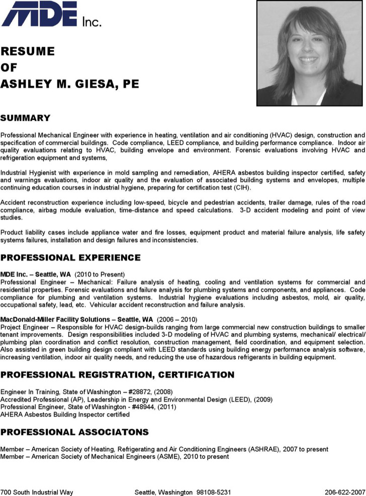 failure - Certified Industrial Hygienist Resume