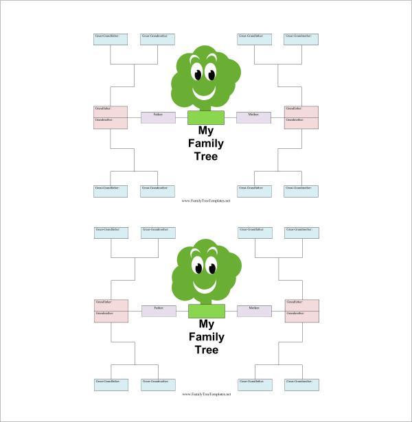 Family Tree Template Word Doc  GreyBtsaCo