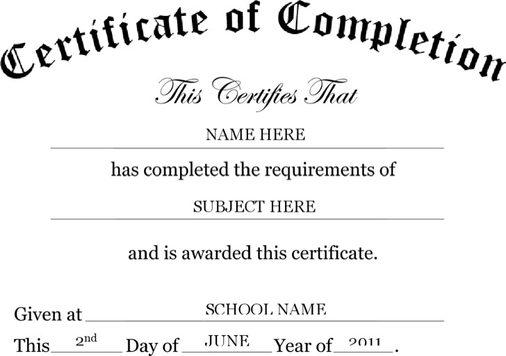 Safety Certificate Templates · Preschool Certificate Templates  Certificate Word Template