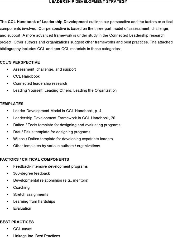 Leadership Development Plan Template | Download Free & Premium ...