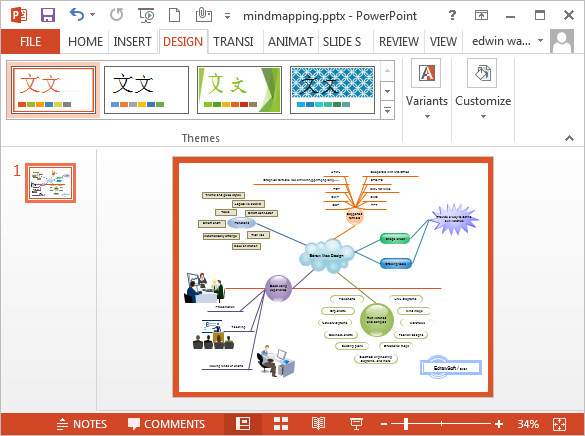 Free Mind Map PowerPoint Template