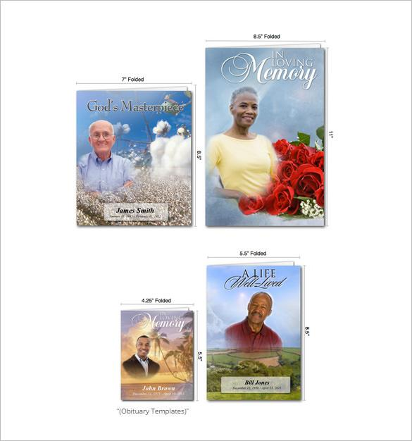 Free Obituary Card Template Maker Online