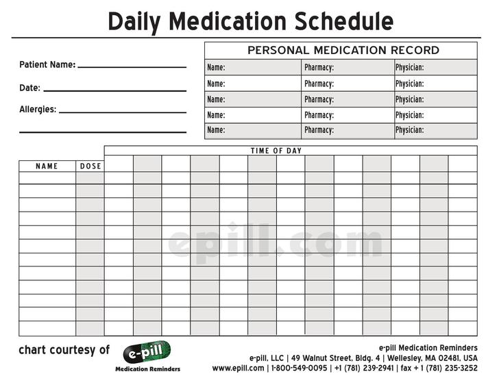patient schedule templates free