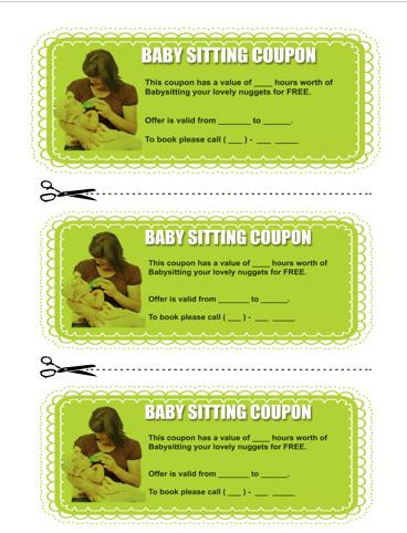 Baby Sitting Coupon Template  Download Free  Premium Templates