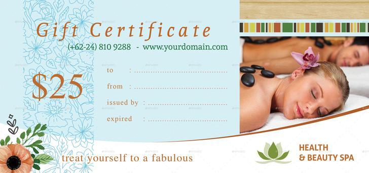 Free Printable Massage Gift Certificate Pdf Format