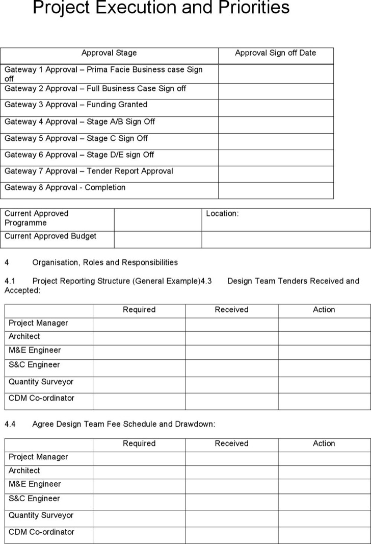project execution plan template free download