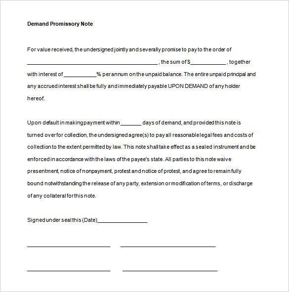 Free Promissory Note Contract for Vehicle PDF Format