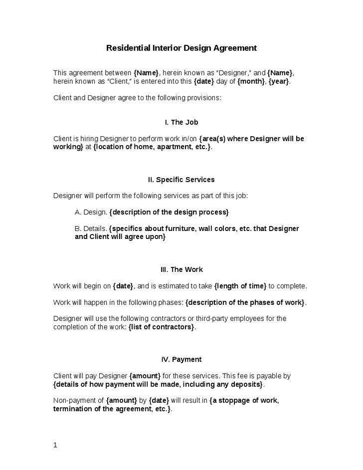 interior designer contract templates download free premium templates forms samples for. Black Bedroom Furniture Sets. Home Design Ideas