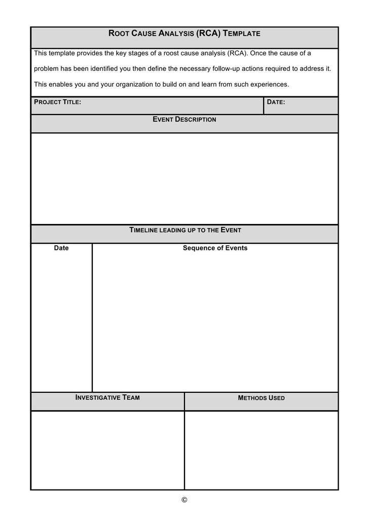 Root cause analysis template download free premium for Root cause failure analysis template