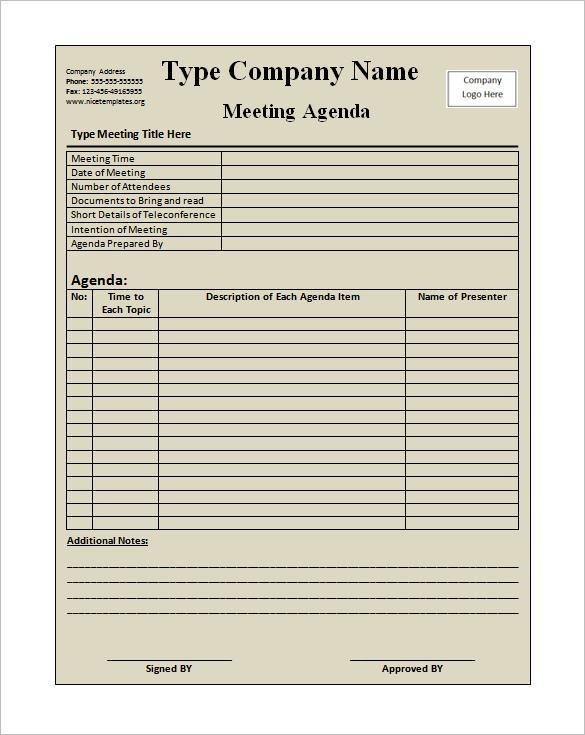 Free Sample Business Meeting Invitation Template