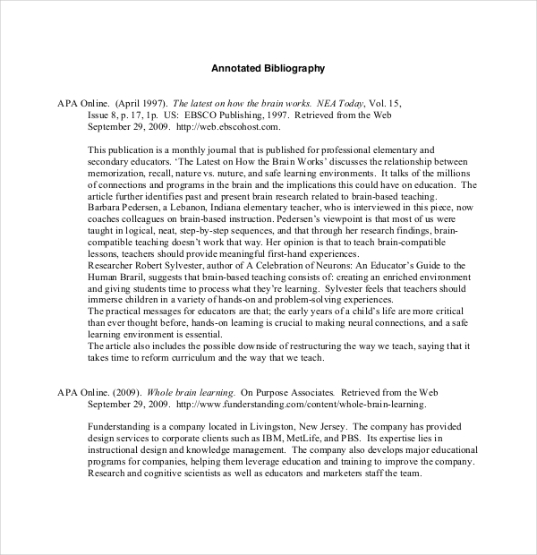 Bibliography for free