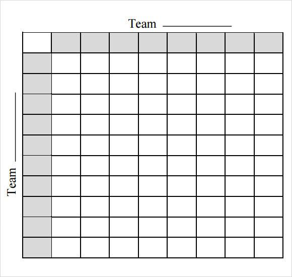Free Superbowl Football Pool Template in PDF Format Download