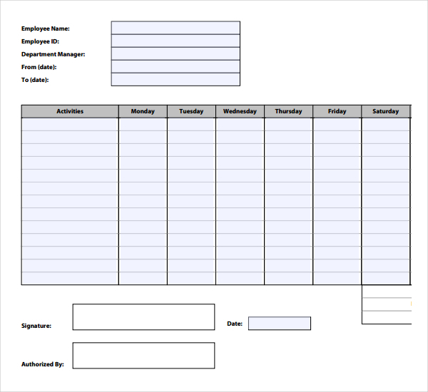 Free Time Tracking Template Download in PDF