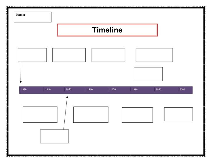 Free Timeline Template for Student