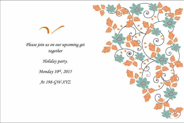 Free Word Format Holiday Wedding Invitations Template Download