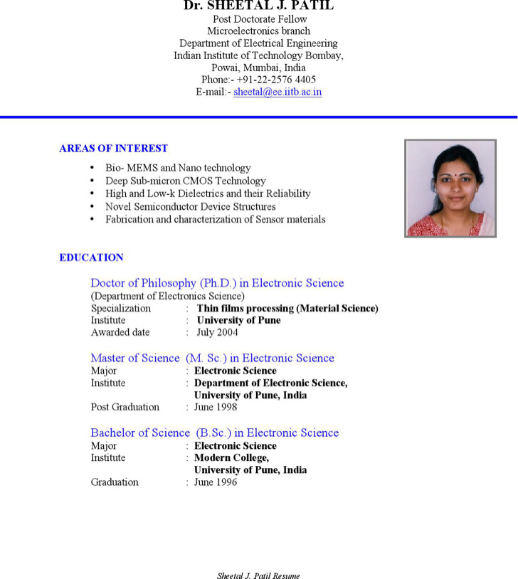 Fresher Electrical Engineering Resume