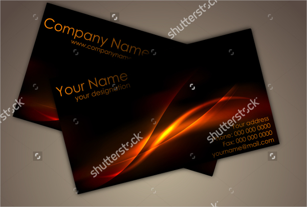 Front & Back Glossy Business Card Template