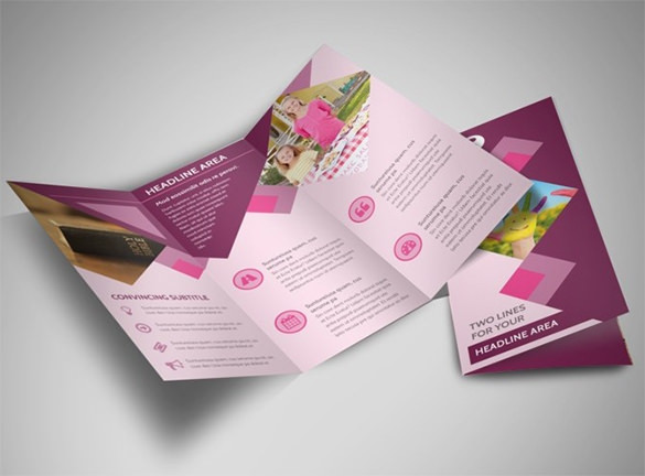 Fundraiser Tri-Fold Church Brochure Template
