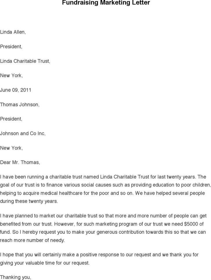 Fundraising Marketing Letter