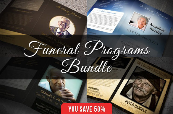 Funeral & Obituary Programs Bundle Download