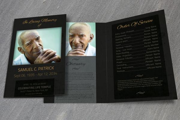 Funeral Template - BiFold Brochure