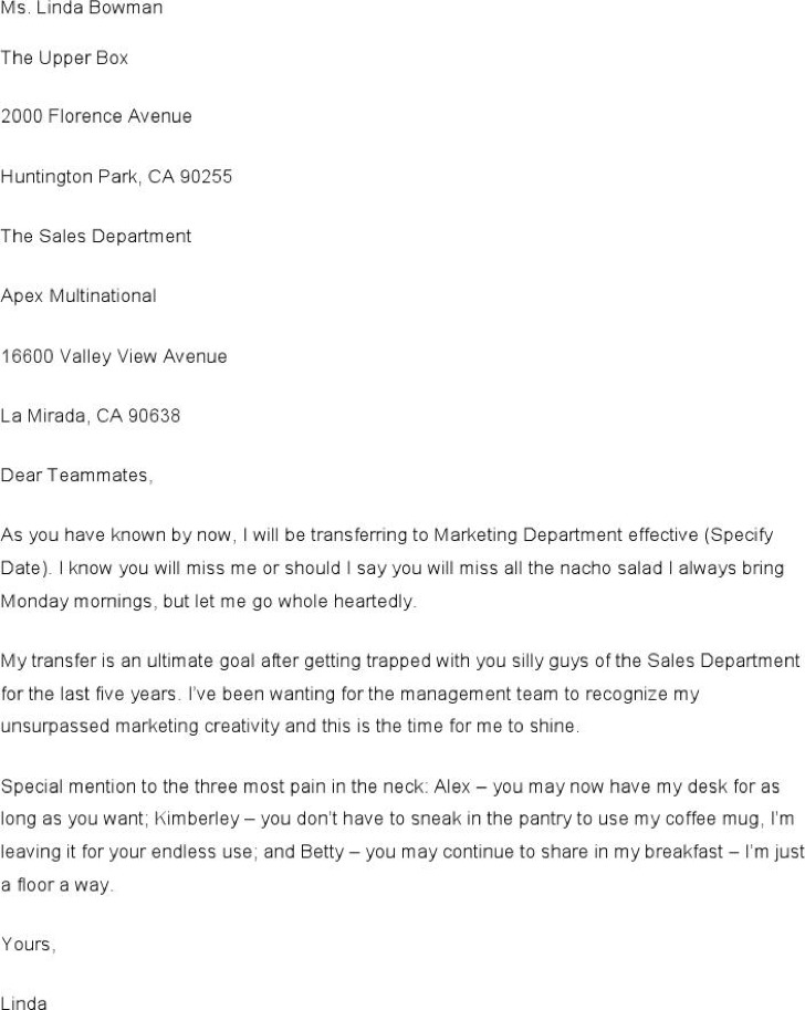 Funny Complaint Letter Template To Sales Department