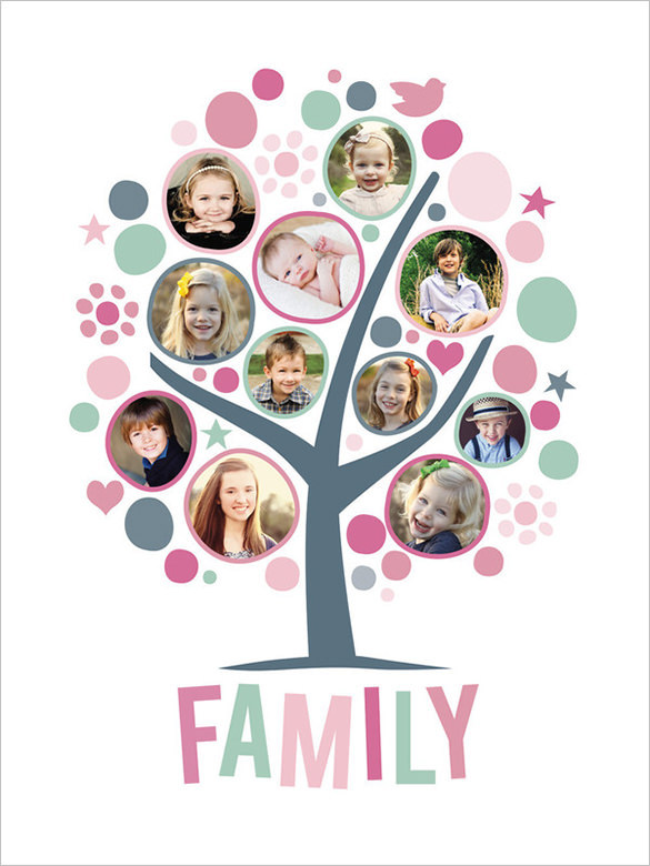 Funny Family Tree with Frames from $29
