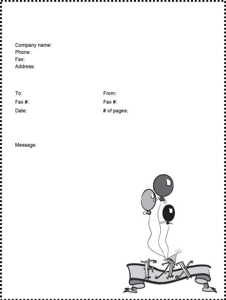 Funny Fax Cover Sheet Cartoon  Fax Cover Sheet Cartoon  Fax