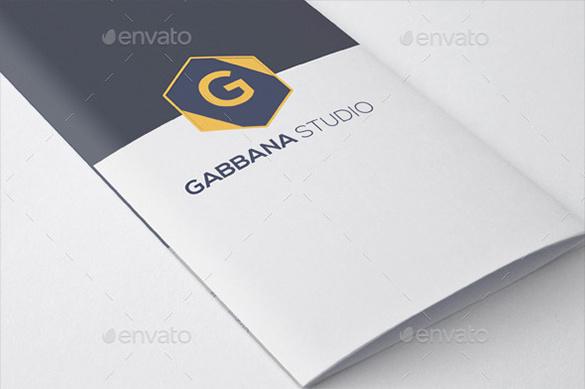 Gabbana Studio Try-Fold Brochur Design Template