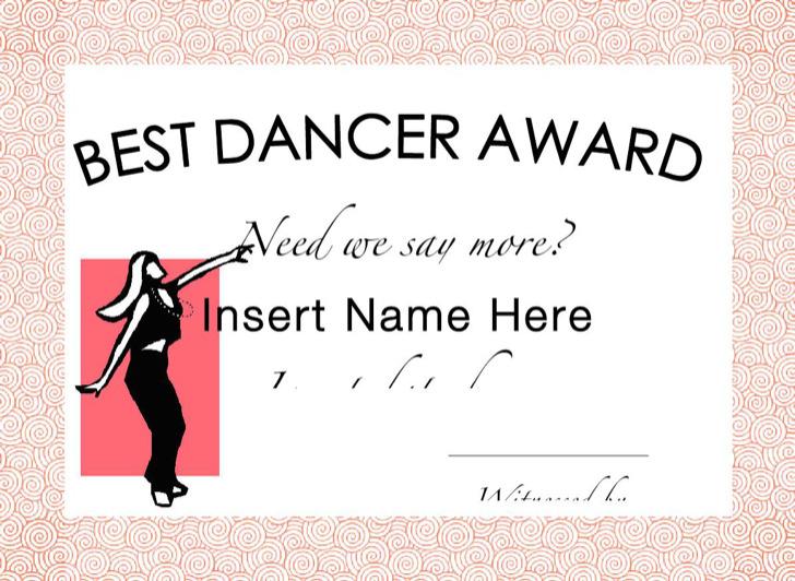 Gag Certificates Dancer Girl
