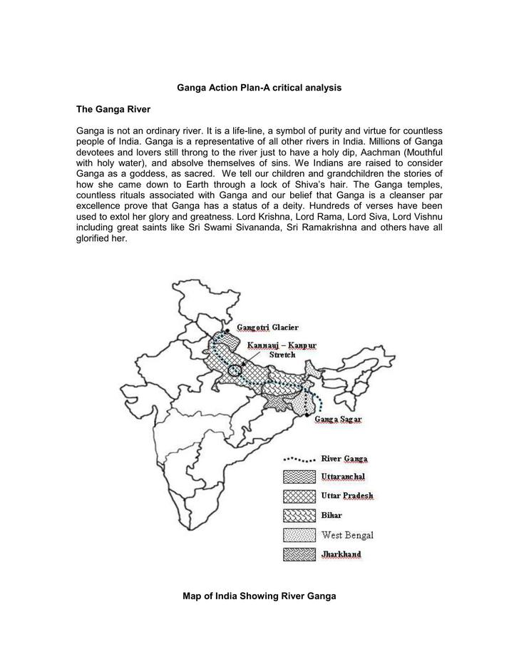 Ganga Action Plan Template PDF Download