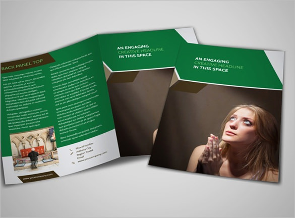 General Church A4 Bi-Fold Brochure Template