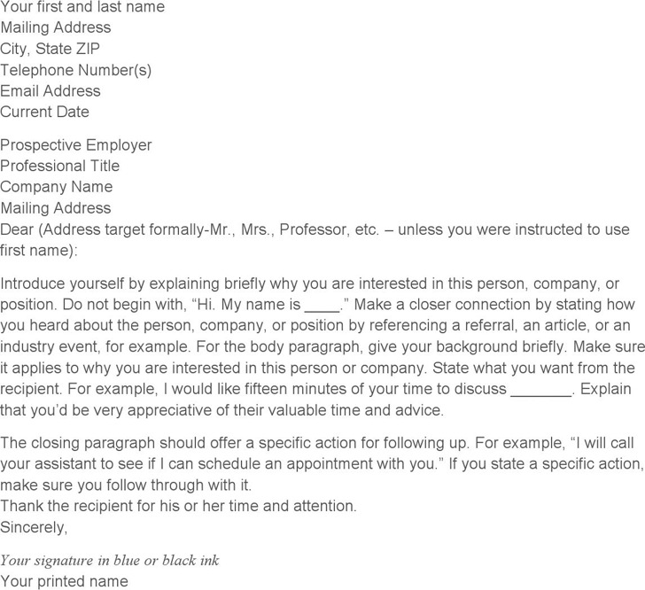 General Cover Letter Template 1