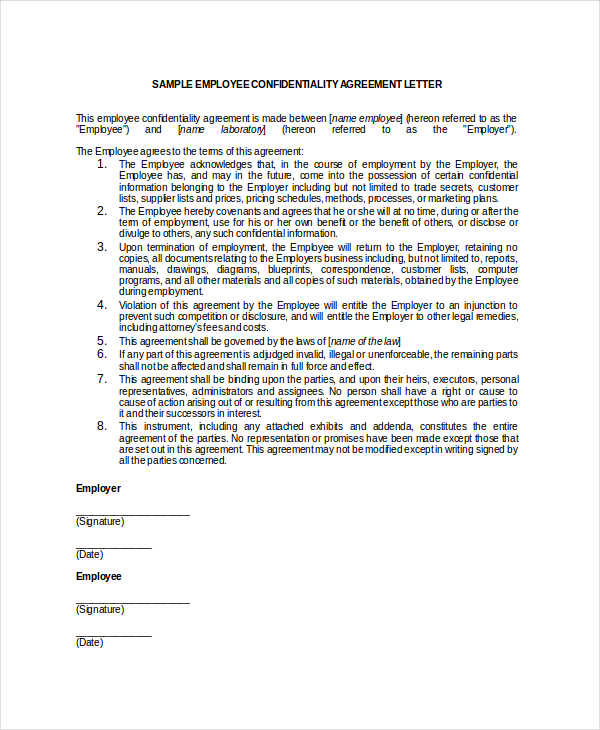 Employee Confidentiality Agreement | Download Free & Premium