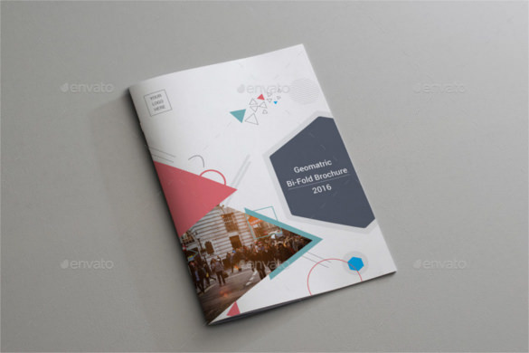 Geometric Bi-Fold Brochure Indesign Format Download