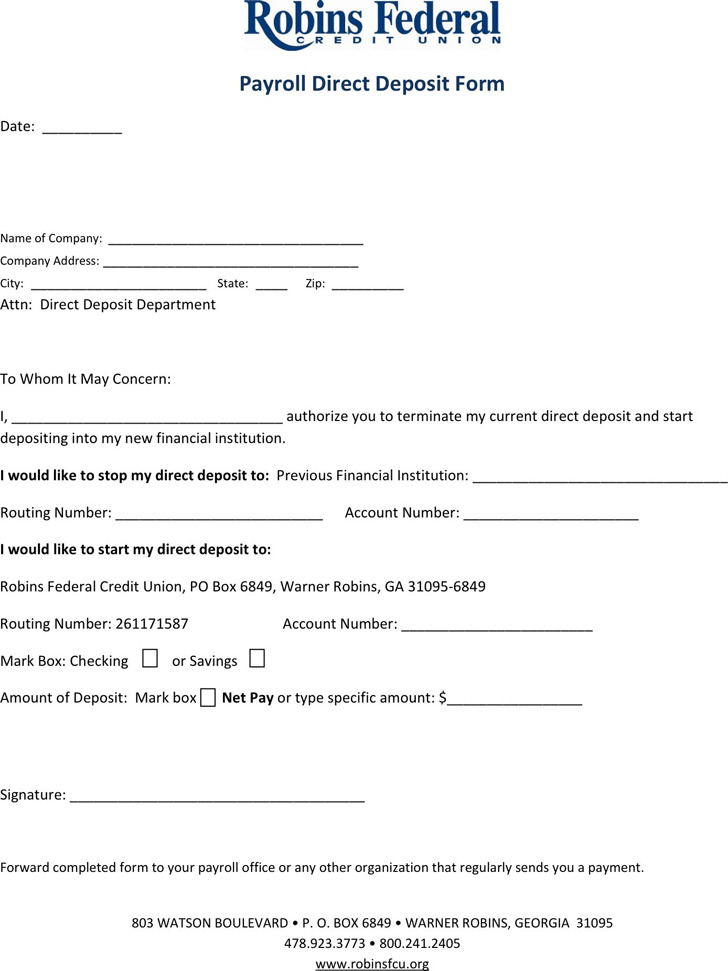 Georgia Direct Deposit Form 2