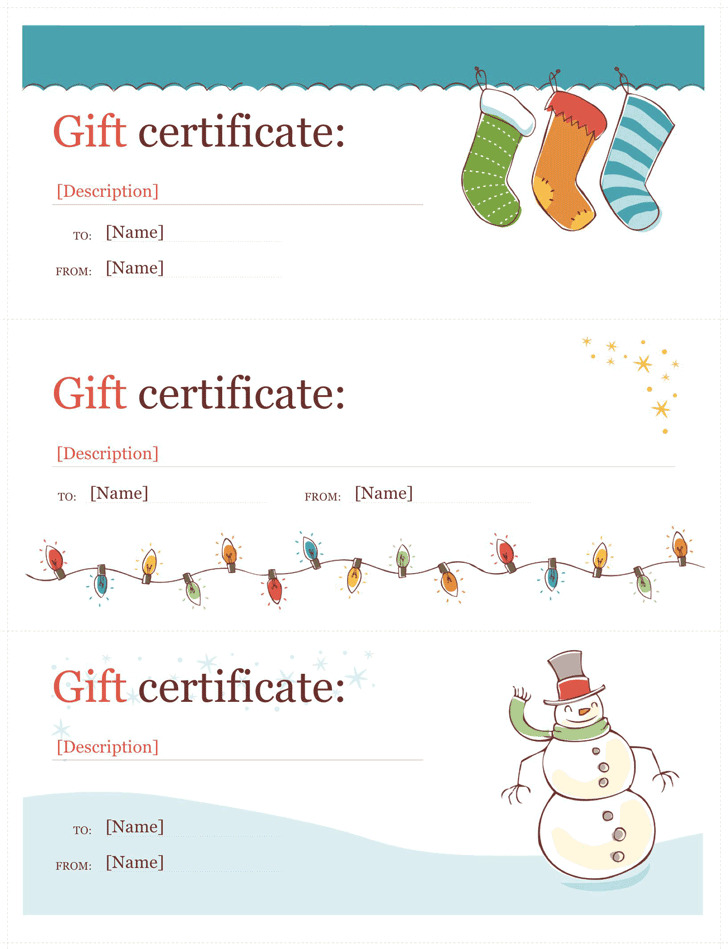 gift certificate template word free download
