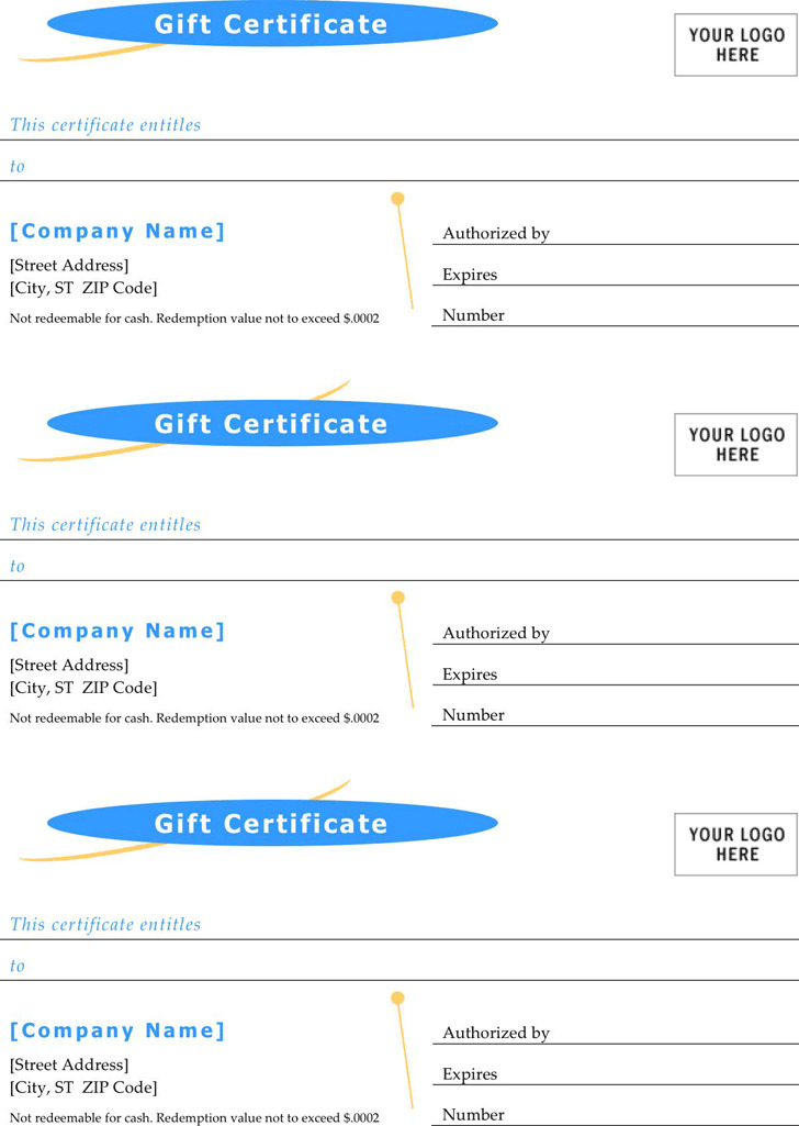 Gift Certificate Template 3