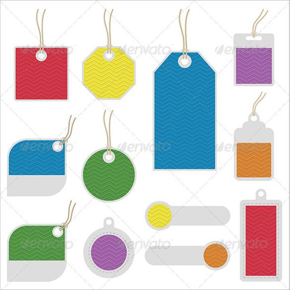 Gift Tag Printable AI Illustrator Format Template