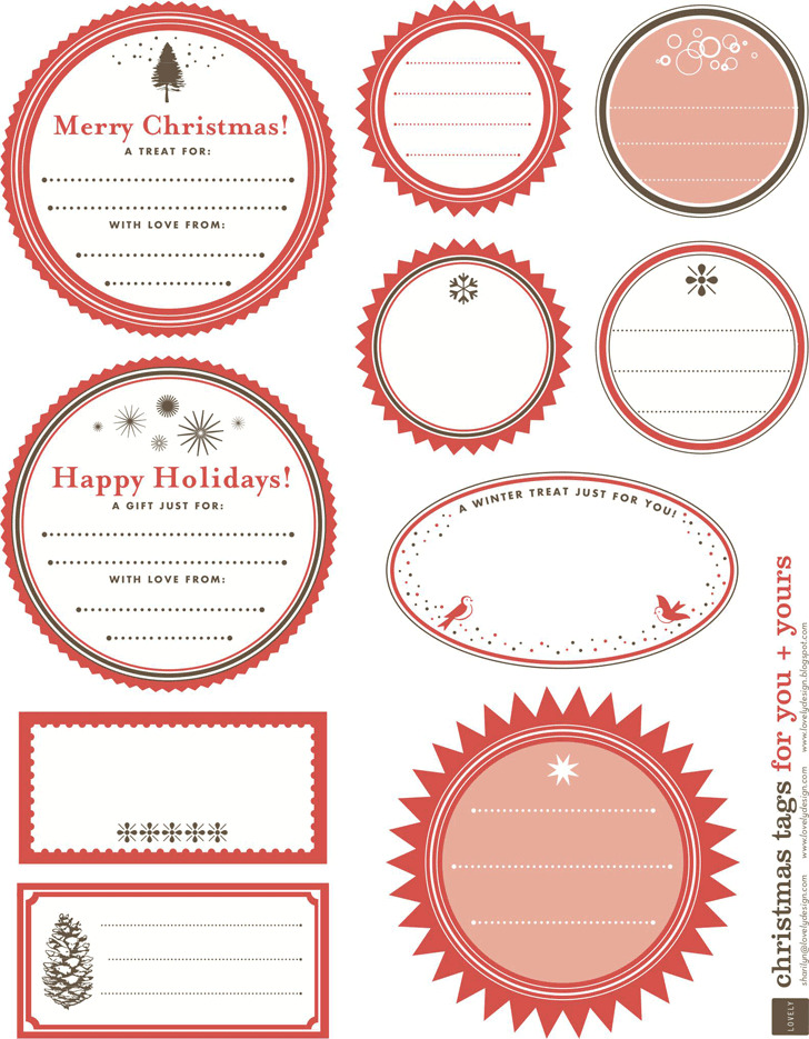 Gift Tag Template 1
