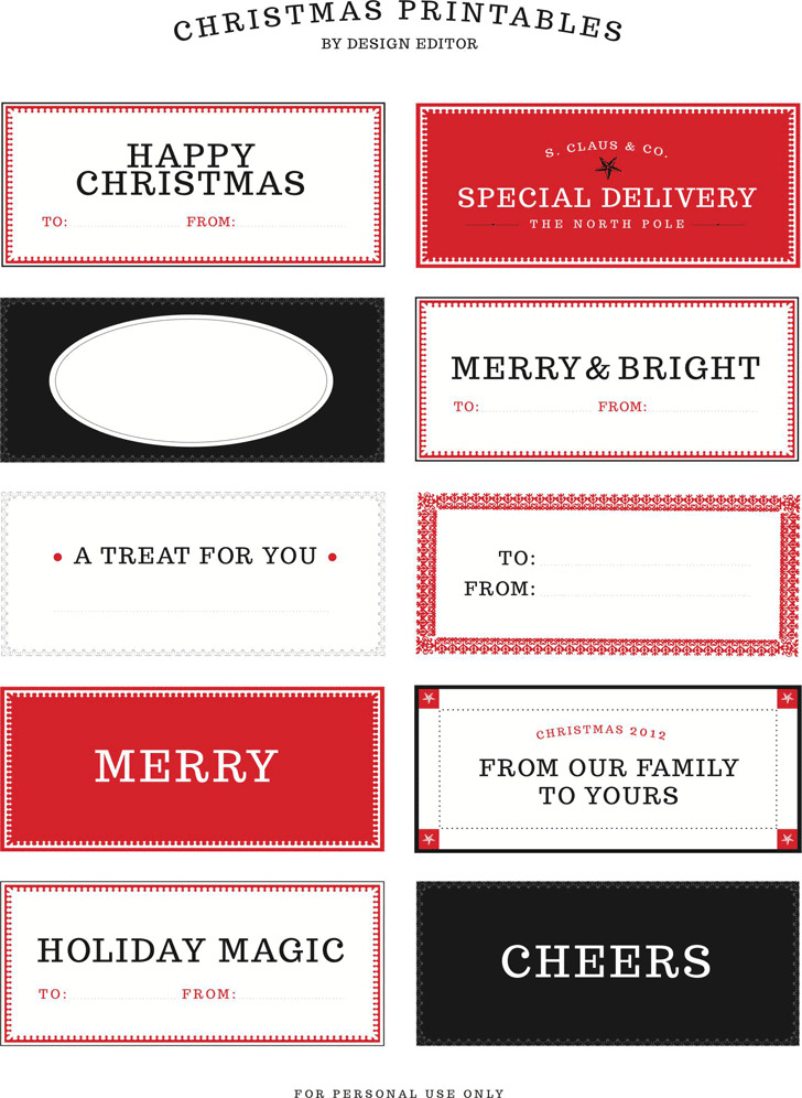 Gift Tag Template 2