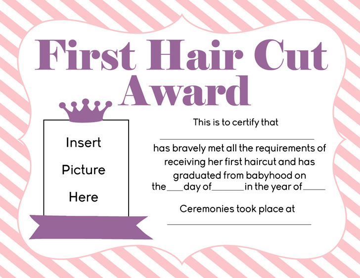 First Haircut Certificate Download Free Premium Templates Forms