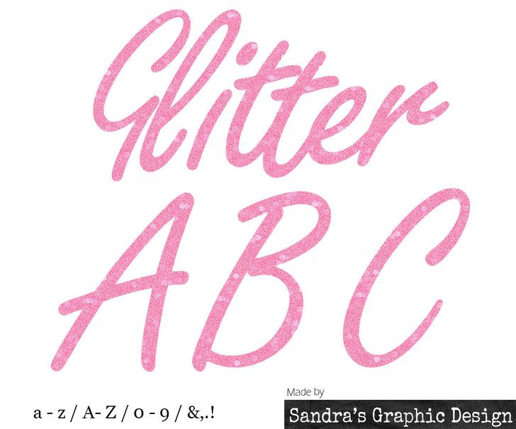 Glitter Lower Case and Upper-Case Letters