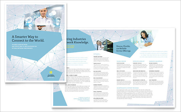 Global Network Services Digital Brochure Template