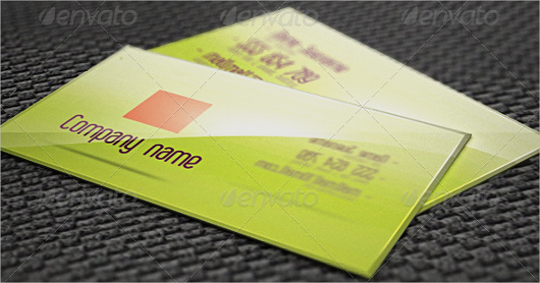 Glossy Business Card With 3D Effect Template