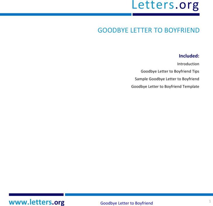 Goodbye Break Up Letter