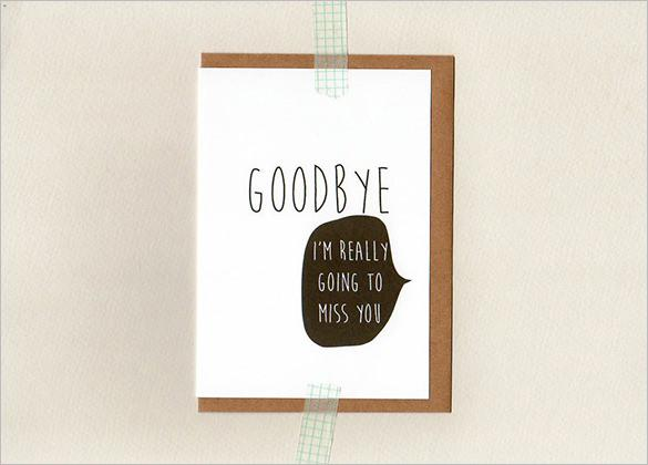 GOODBYE Farewell Card Template