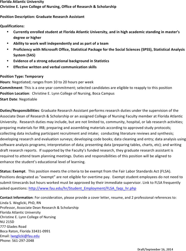 professional graduate research assistant templates 28